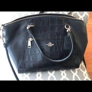 Midnight Navy Coach crossbody purse